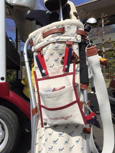 画像2: 【DECORE FOR GOLF デコレフォーゴルフ】 連結式 乗用カートバッグ(CART BAG) 3段ポケット プレゼント付