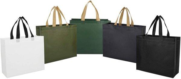 画像1: 不織布・防水加工 エコバッグ ショッピングバッグ 5色 コンビニサイズ 28cm*32cm*10cm (1)